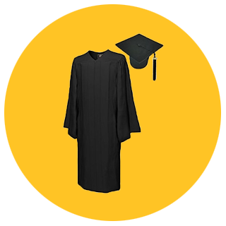 Click here to shop for graduation caps and gowns.